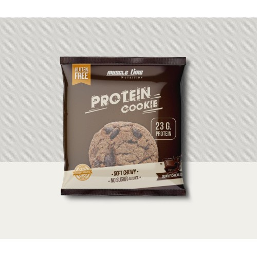Muscle Time Double Choco Protein Cookie 75 Gr 1 Ad